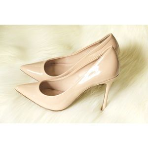 "TOPSHOP 4"" Stiletto Heels Nude Patent Leather 8.5"
